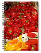 Red And Yellow Peppers Spiral Notebook
