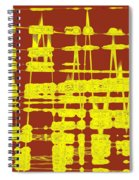 Red And Yellow Wave No 3 Spiral Notebook