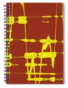 Red And Yellow Wave No 4 Spiral Notebook