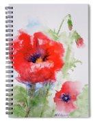 Red Anemones Spiral Notebook