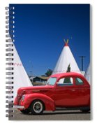 Red Antique Car Spiral Notebook