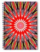 Red Arrow Abstract Spiral Notebook