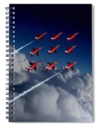 Red Arrows Diamond 9  Spiral Notebook