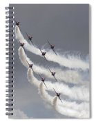 Red Arrows Flying In Formation Spiral Notebook