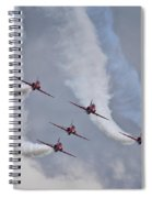Red Arrows Roll Left Spiral Notebook