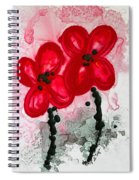 Red Asian Poppies Spiral Notebook