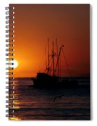 Red At Night Sailor's Delight Spiral Notebook