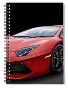 Red Aventador Spiral Notebook