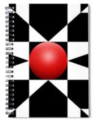 Red Ball 1 Panoramic Spiral Notebook