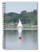 Red Ball Sailing Spiral Notebook