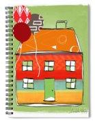 Red Balloon Spiral Notebook