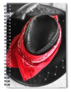 Red Bandana And Cowboy Hat Spiral Notebook