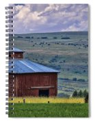 Red Barn And Barbed Wire Spiral Notebook