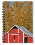 Red Barn And Fall Colors Spiral Notebook