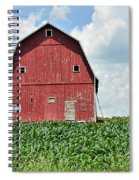 Red Barn And New Corn Spiral Notebook