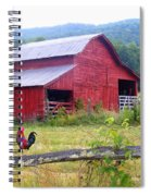 Red Barn And Rooster Spiral Notebook