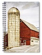 Red Barn And Silo Vermont Spiral Notebook