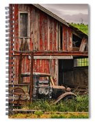 Red Barn And Truck In The Palouse Spiral Notebook