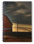 Red Barn At Dawn Spiral Notebook