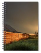 Red Barn At Sundown Spiral Notebook