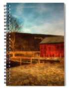 Red Barn At Twilight Spiral Notebook