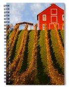 Red Barn In Autumn Vineyards Spiral Notebook