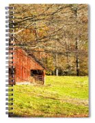 Red Barn In Late Fall Spiral Notebook