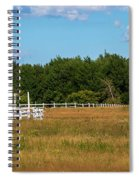 Red Barn In Meadow, Knowlton, Quebec Spiral Notebook