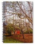 Red Barn In The Smokies Spiral Notebook