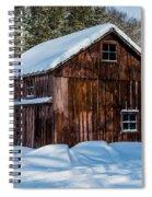Red Barn In Winter Spiral Notebook