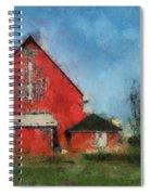 Red Barn Rear View Photo Art 03 Spiral Notebook