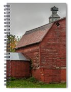 Red Barn With Fall Colors Spiral Notebook
