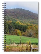Red Barns And Mountains Spiral Notebook