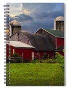 Red Barns Spiral Notebook