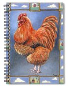 Red Baron Rooster Spiral Notebook