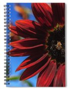 Red Be There Spiral Notebook