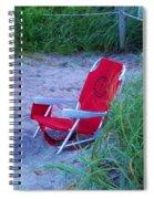 Red Beach Chair Spiral Notebook