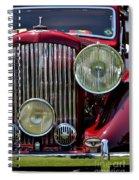 Red Bentley Grill Spiral Notebook