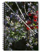 Red Berries And Violet Flowers Spiral Notebook