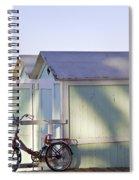 Red Bicycle At Mondello Beach Spiral Notebook