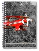 Red Biplane Spiral Notebook