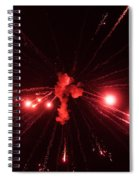 Red Blast And Smoke Spiral Notebook