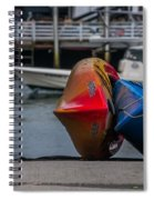 Red Blue And Yellow Spiral Notebook