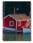 Red Boat House Spiral Notebook