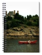 Red Boat In Newport Spiral Notebook