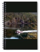 Red Boat Returning From Sea Spiral Notebook
