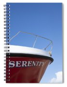 Red Boat Serenity 2 Spiral Notebook