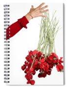 Red Bouquet Spiral Notebook