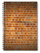 Red Brick Wall Texture With Vignette Spiral Notebook