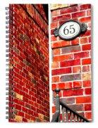 Red Bricks Spiral Notebook